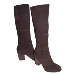 Maiden Lane chocolate brown suede boots